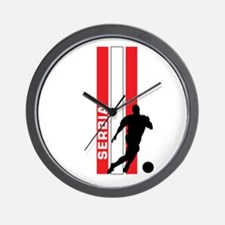 SERBIA FOOTBALL 3 Wall Clock