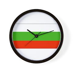 Bulgaria Bulgarian Blank Flag Wall Clock