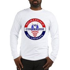 Stop Illegal Immigration - front/back Printed Long