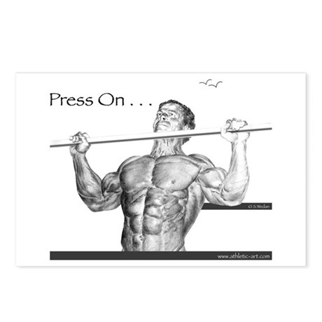 """Press On"" Postcards (Package of 8)"
