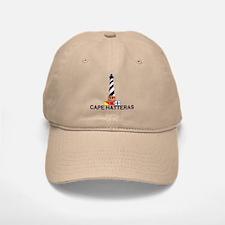 Baseball Baseball Cape Hatteras NC - Lighthouse Design Baseball Baseball Cap
