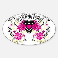 Barracuda Heart Sticker (Oval)