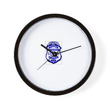 DOD Police Badge Wall Clock