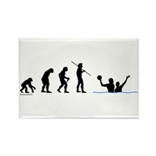 Water Polo Evolution Rectangle Magnet (100 pack)