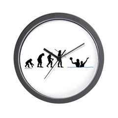 Water Polo Evolution Wall Clock