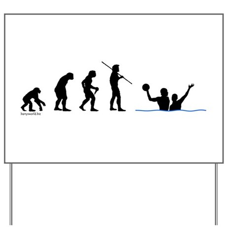 Water Polo Evolution Yard Sign