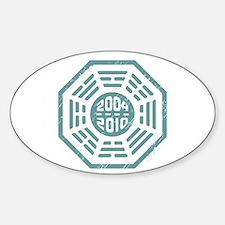 LOST Dharma 2004 - 2010 ocean-green Sticker (Oval)