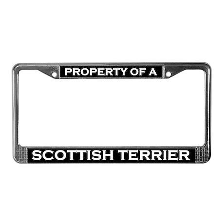 Property of Scottish Terrier License Plate Frame