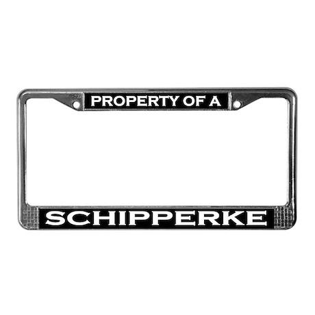 Property of Schipperke License Plate Frame