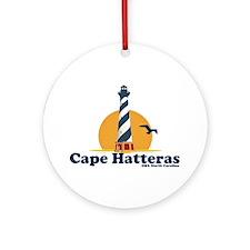 Cape Hatteras NC - Lighthouse Design Ornament (Rou