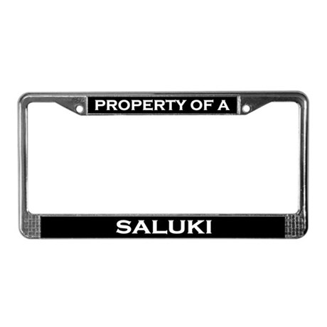Property of Saluki License Plate Frame