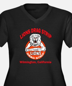 Lions Drag Strip Women's Plus Size V-Neck Dark T-S