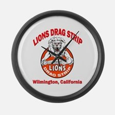 Lions Drag Strip Large Wall Clock