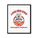 Lions Drag Strip Framed Panel Print