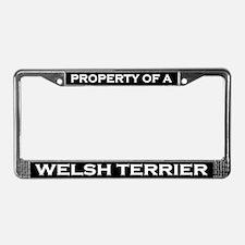 Property of Welsh Terrier License Plate Frame