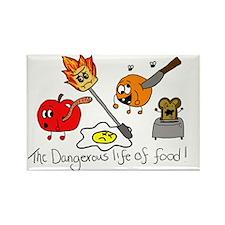 Dangerous life of food Rectangle Magnet