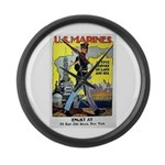 Active Service on Land and Sea Large Wall Clock