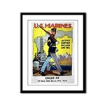 Active Service on Land and Sea Framed Panel Print