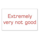 Extremely (red) Sticker (Rectangle 10 pk)