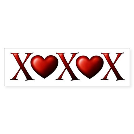 XOXOX Bumper Sticker