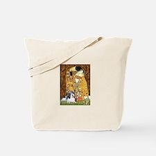 The Kiss / Petit Basset #8 Tote Bag