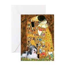 The Kiss / Petit Basset #8 Greeting Card