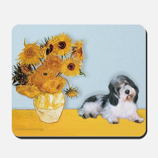 Sunflowers/ Petit Basset #8 Mousepad