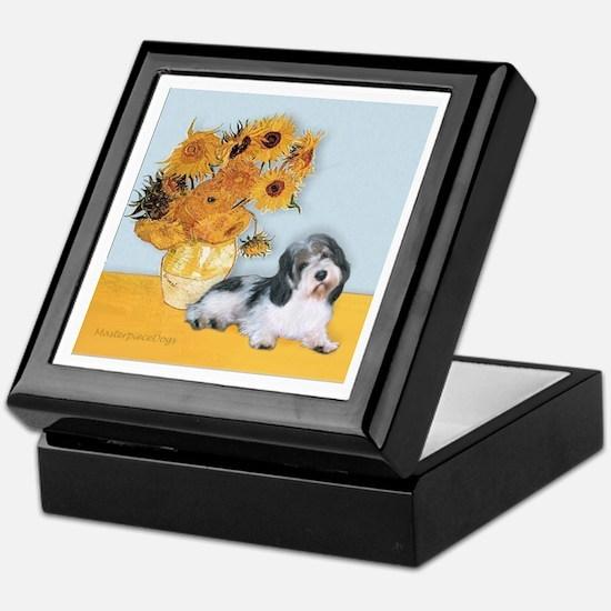 Sunflowers/ Petit Basset #8 Keepsake Box