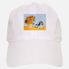 Sunflowers/ Petit Basset #8 Baseball Baseball Cap
