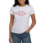 I Love Poetry, Long Walks, on Women's T-Shirt