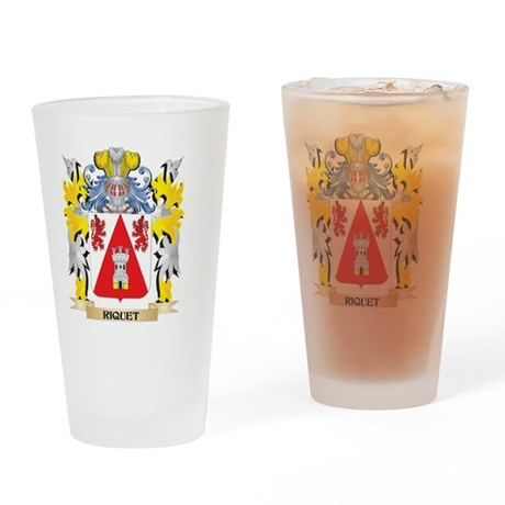 Riquet Family Crest - Coat of Arms Drinking Glass