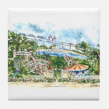 Peony's Past Tile Coaster