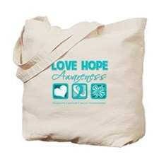 Cervical Cancer LoveHope Tote Bag