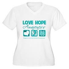 Cervical Cancer LoveHope T-Shirt