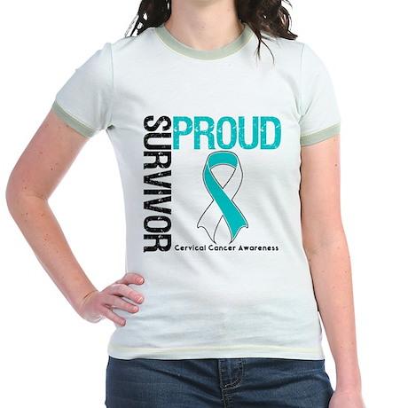 CervicalCancer ProudSurvivor Jr. Ringer T-Shirt