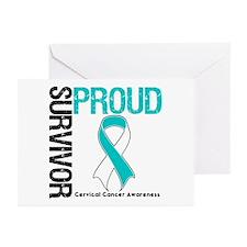CervicalCancer ProudSurvivor Greeting Cards (Pk of