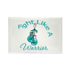 WarriorFight CervicalCancer Rectangle Magnet