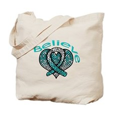 CervicalCancer Believe Tote Bag