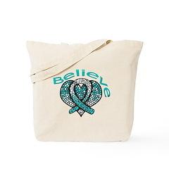 CervicalCancer Believe Tote Bag