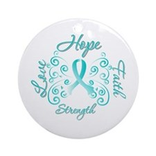 CervicalCancer HopeStrength Ornament (Round)