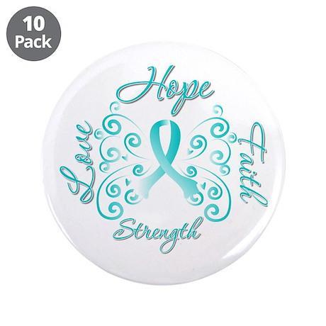 "CervicalCancer HopeStrength 3.5"" Button (10 pack)"