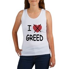 I hate greed Women's Tank Top