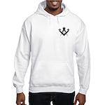 Masonic Fleur De Lis Hooded Sweatshirt