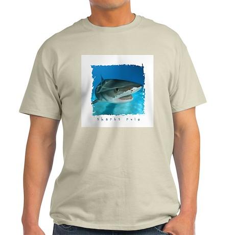 Sharks Rule Ash Grey T-Shirt