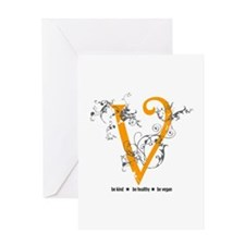 Be vegan Greeting Card