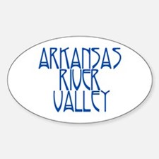 Arkansas River Valley 1 Oval Decal