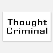 Thought Criminal Rectangular Decal