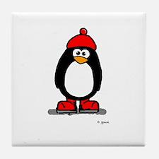 Red Hat Penguin Tile Coaster