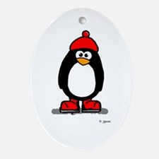 Red Hat Penguin Keepsake (Oval)