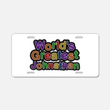 World's Greatest Johnathan Aluminum License Plate